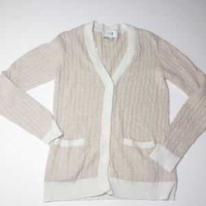 Forever 21 soft pink & ivory cardigan sweater